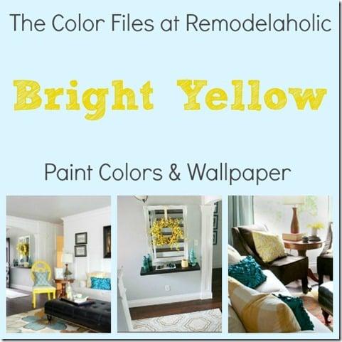 Bright Yellow Pin Pic