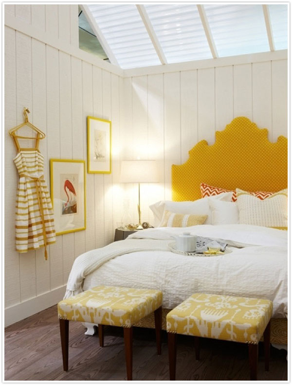 Yellow Accents In White Room Via Camille Styles