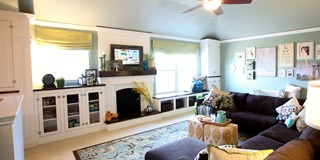 Built in wall cabinets porject oerview fauw mantel