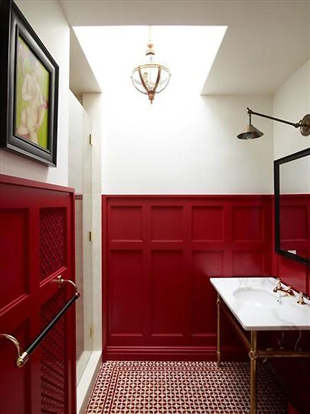 Canadian House and Home red wainscoting
