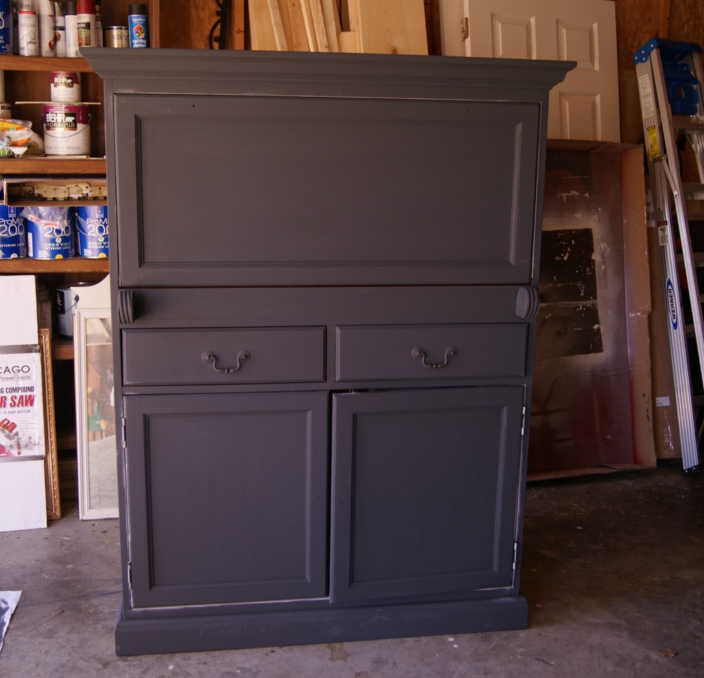 Dark Blue Chalk Paint Kitchen Cabinets: DIY Antique Zinc Finish Tutorial