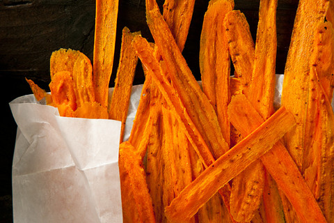 Chow carrot chips