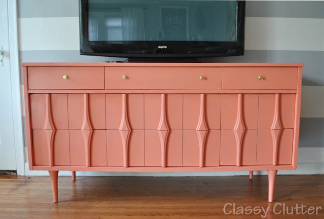 Classy Clutter coral entertainment center