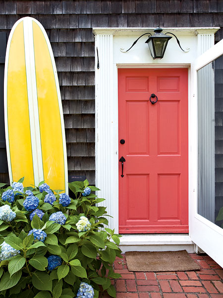 Coastal Living coral door