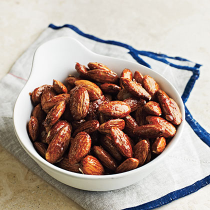 Cooking Light honey glazed almonds