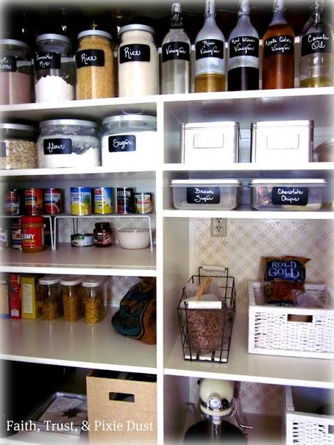 Faith Trust Pixie Dust pantry makeover