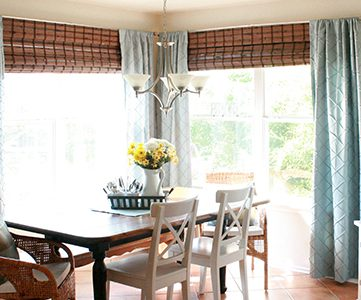 adding bamboo shades to dining room