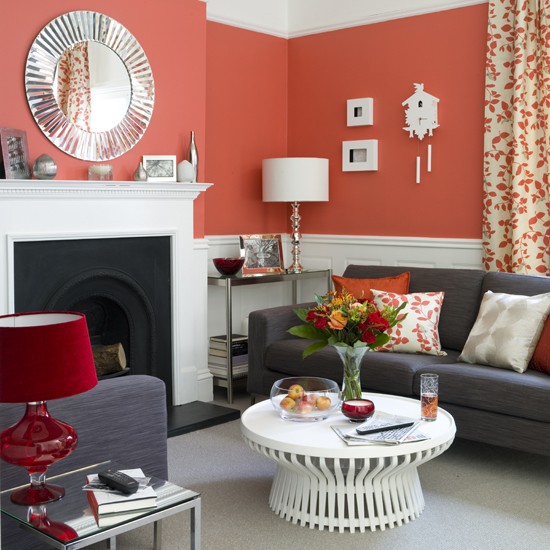 Best coral paint colors for Coral walls living room