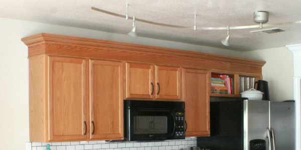 crown molding on kitchen cabinets update builder grade cabinets fast without painting 14254