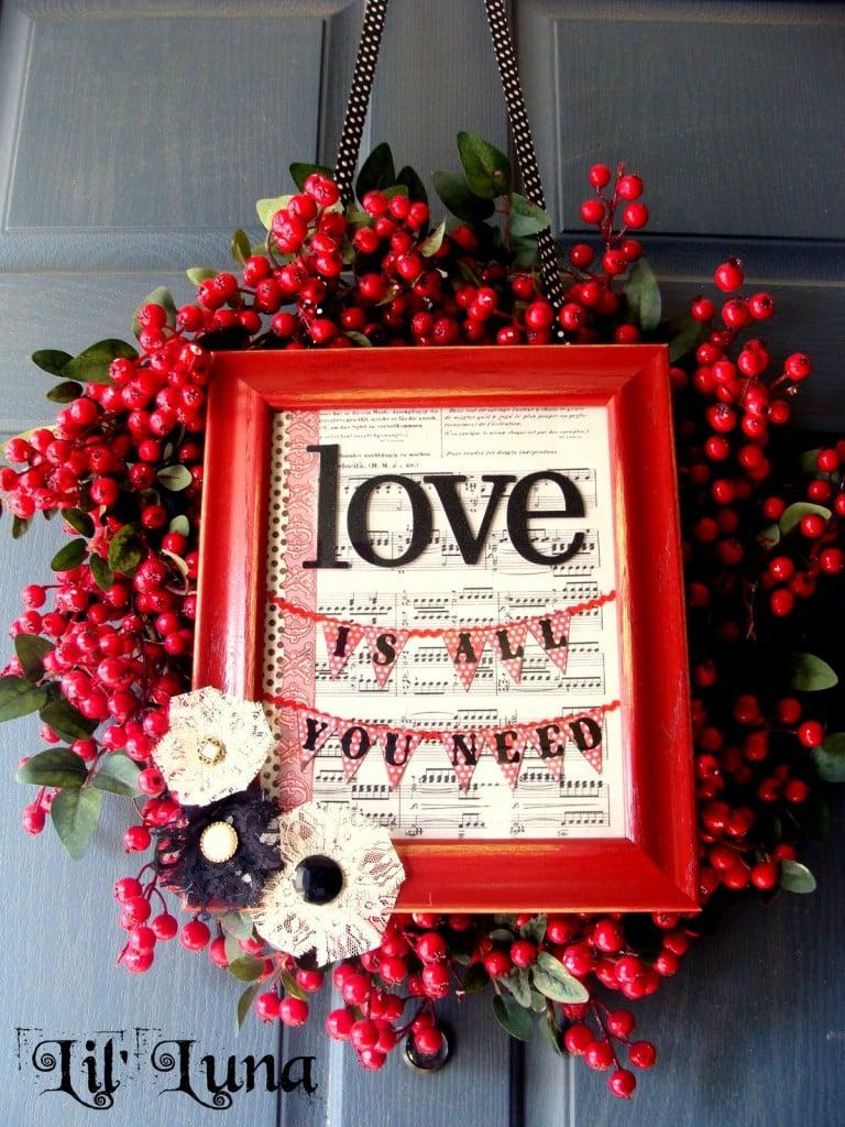 Lil Luna Valentine Wreath