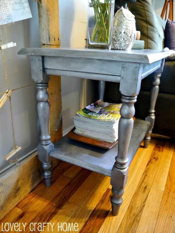 Good Lovely Crafty Home zinc side table