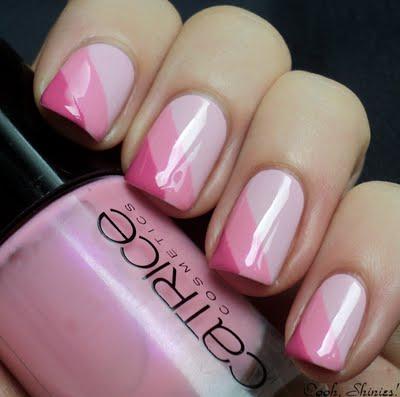 Ooh unhas brilhinhos rosa