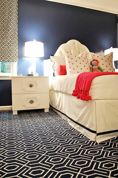 remodelaholic pink and navy girl 39 s room idea