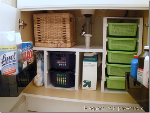 Superb Pregnant with Power Tools under sink organized