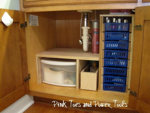 Home sweet home on a budget bathroom organization diy Diy under counter storage