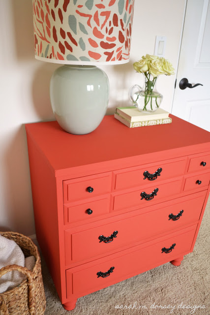 custom mix of annie sloan chalk paint colors barcelona orange and
