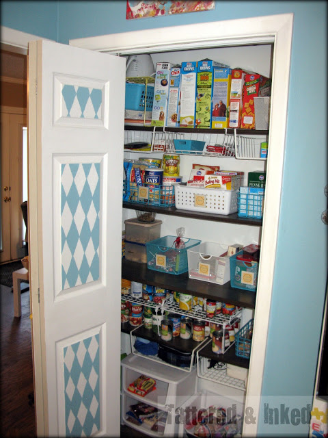 Tattered & Inked reorganized pantry