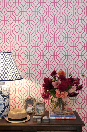The Interiors Addict graphic wallpaper