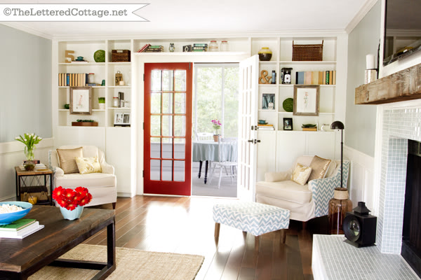 The Lettered Cottage red door