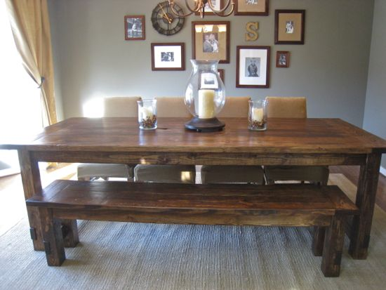 Remodelaholic diy farmhouse table tutorial Diy farmhouse table