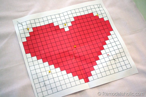 Valentine Pillow cover heart embroidery large scale pink red pillow heart (1)