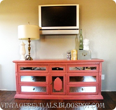 Vintage Revivals coral entertainment console