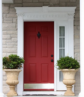 Yellow Cape Cod red door