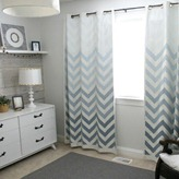 chevron ombre painted curtain tutorial