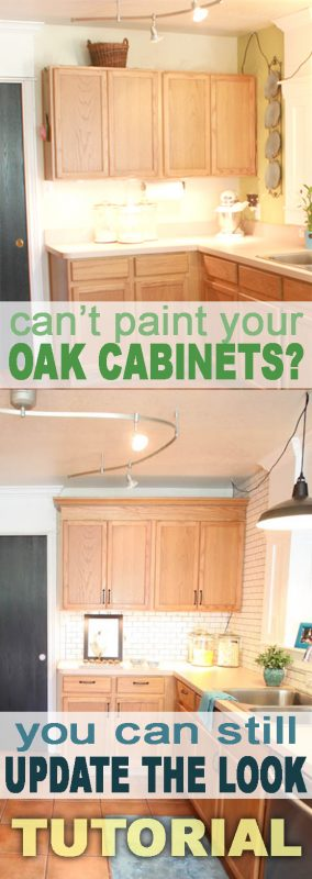 Update builder grade cabinets fast without painting - Recommended kitchen cabinet color ideas to update the room quickly ...