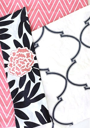 pink and nave fabric