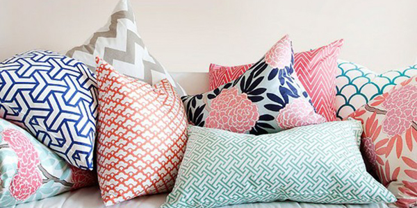 Navy And Pink Decorative Pillows