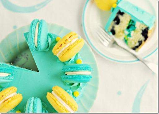 sweetapolita lemon blueberry macaroon cake