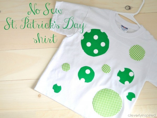 St. Patrick's Day No Sew Holiday Shirt