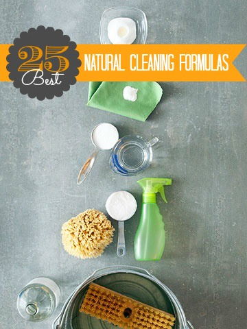 25 Best Natural Cleaning Formulas | @Remodelaholic #natural #diy #cleaning