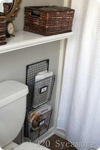 Spectacular  Sycamore bathroom magazine racks