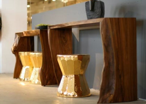 A Stylists Life gold stools