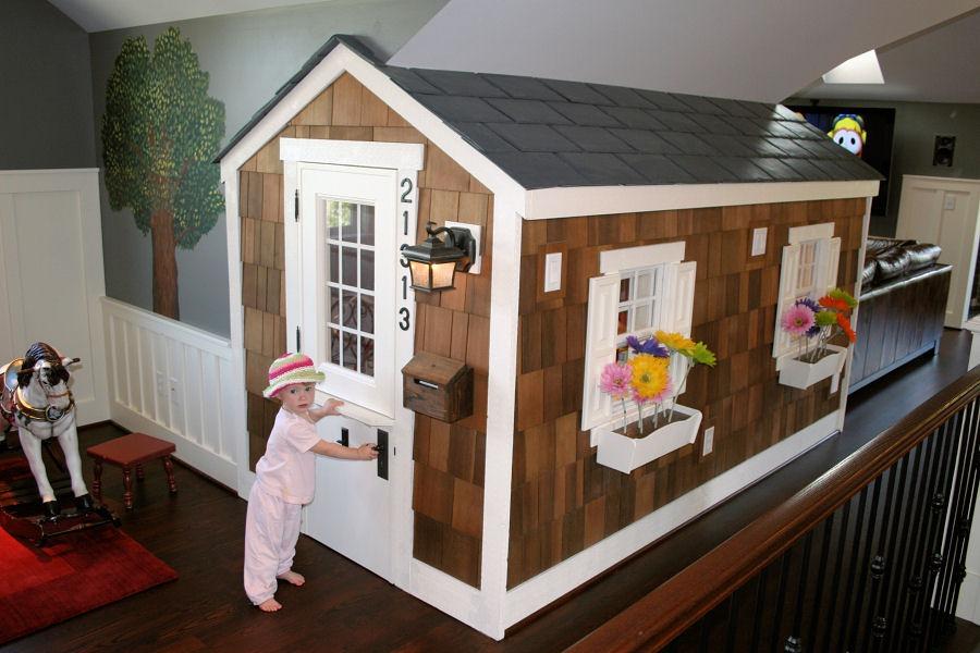 Apartment therapy cedar shake attic playhouse for Playhouse ideas inside