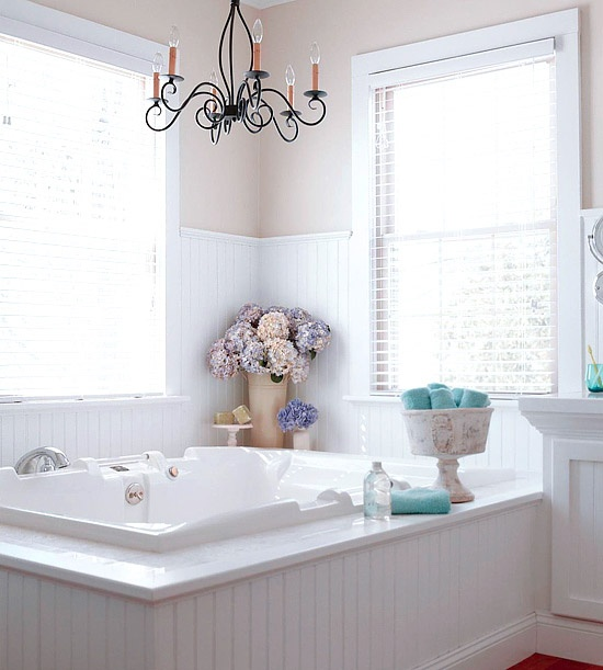 Remodelaholic elegant neutral bathroom renovation for Cottage bathroom ideas renovate