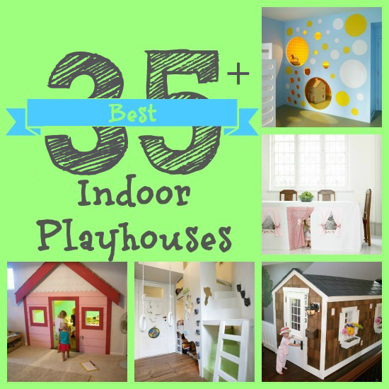 35+ Best Indoor Playhouses | @Remodelaholic #diy #indoor #home #playhouse #kids