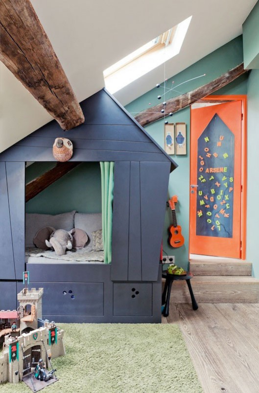 Built In Bed playhouse Idea