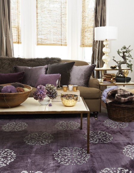Canadian House & Home purple rug