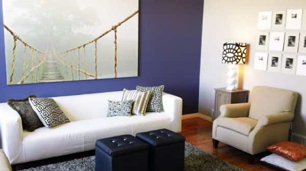 Chris Loves Julia violet accent wall