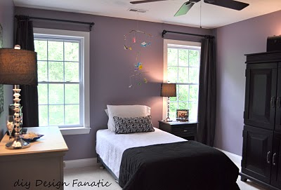 DIY Design Fanatic intense purple bedroom