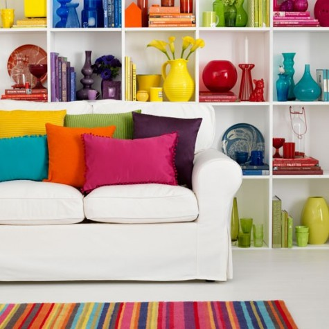 Designed Interiors rainbow living room