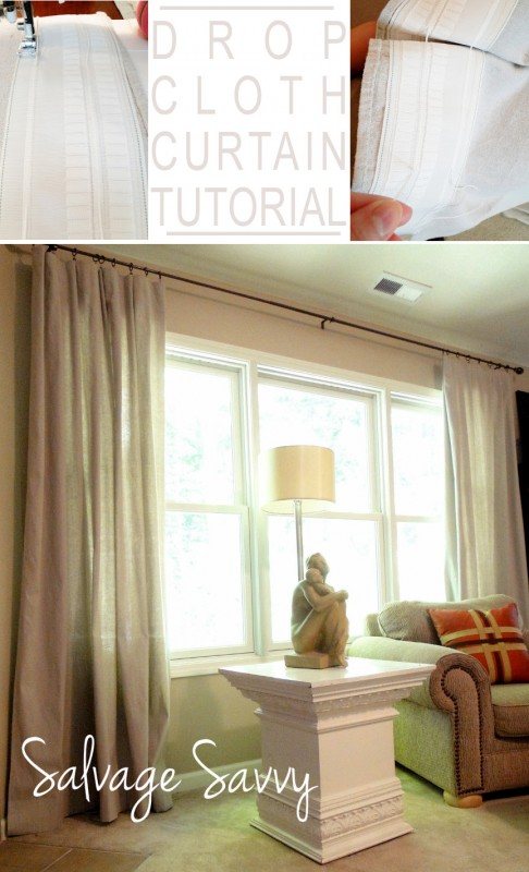 Dropcloth curtain tutorial remodelaholic