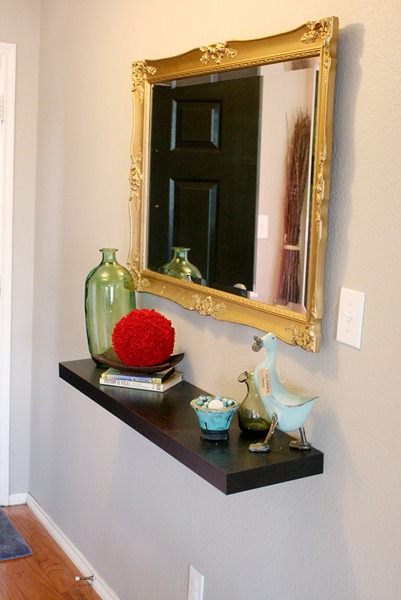 remodelaholic small entry updates. Black Bedroom Furniture Sets. Home Design Ideas