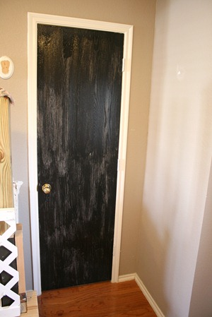 Entry updates black door white moldings entry table columns (24)
