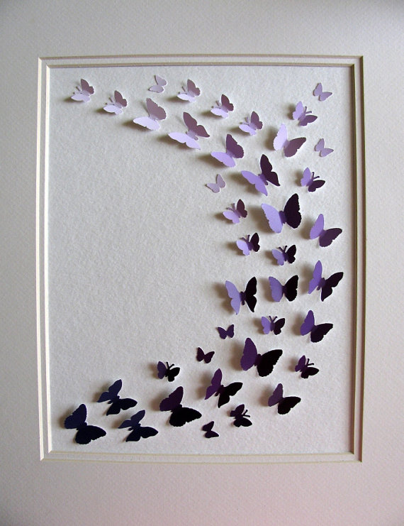 Etsy Purple Paint Chip Art