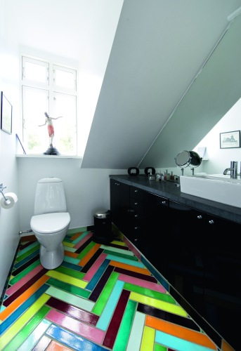 From Scandinavia with Love tiled bathroom