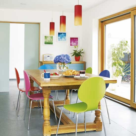 House to Home rainbow dining